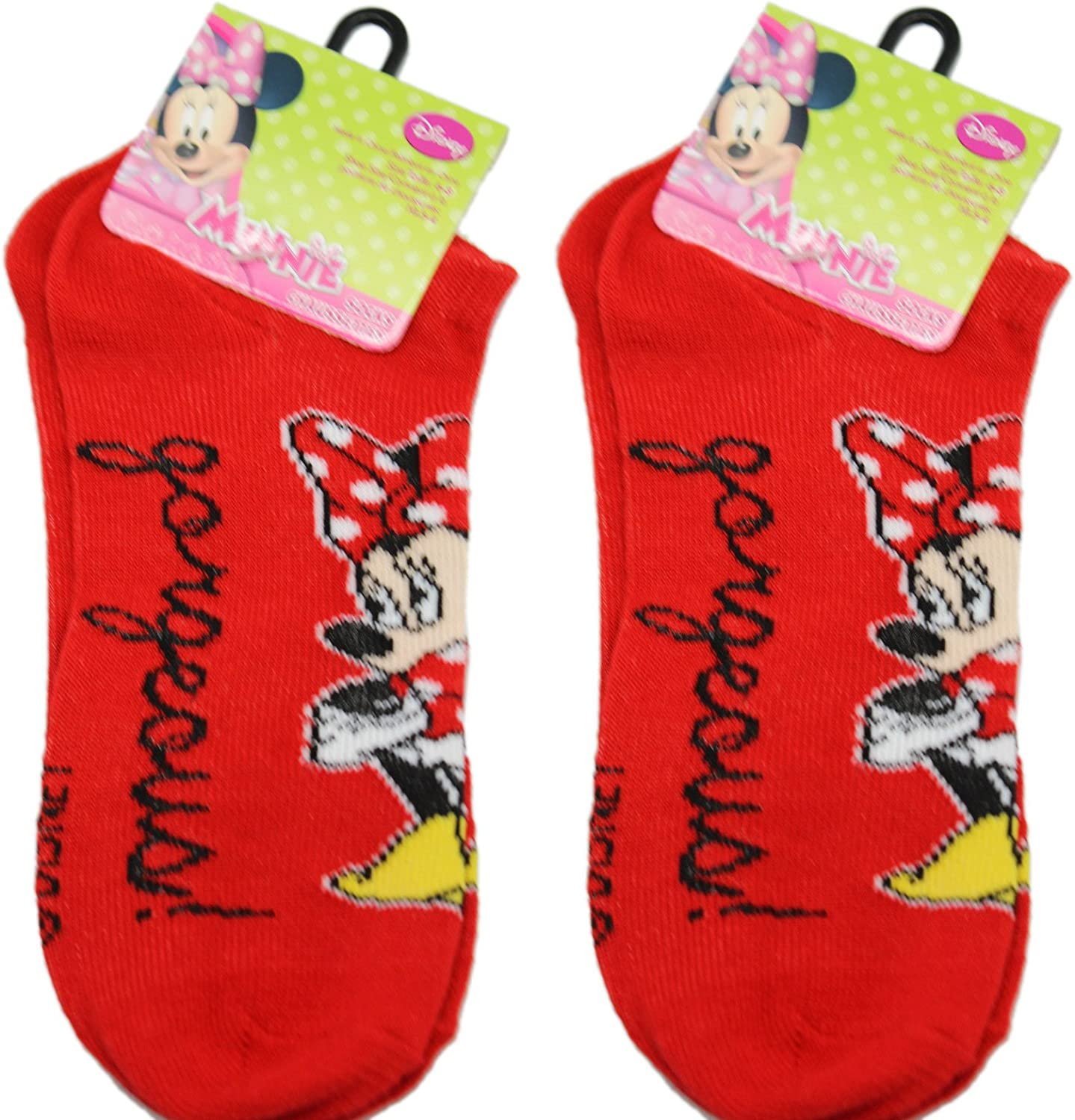 2 Pair Red Gorgeous Minnie Mouse Socks (Size 68)
