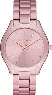 Women's Slim Runway Quartz Watch with Metal Strap, Pink, 20 (Model: MK4456)