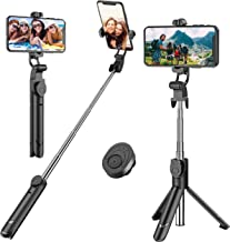 Selfie Stick, Extendable Selfie Stick Tripod with Detachable Wireless Remote and Tripod Stand Selfie Stick for iPhone X/iPhone 8/8 Plus/iPhone 7/7 Plus, Galaxy S9/S9 Plus/S8/S8 Plus/Note8,Huawei,More