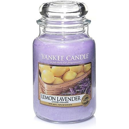 Yankee Candle Candela profumata in giara grande | Lavanda al limone | Durata Fino a 150 Ore