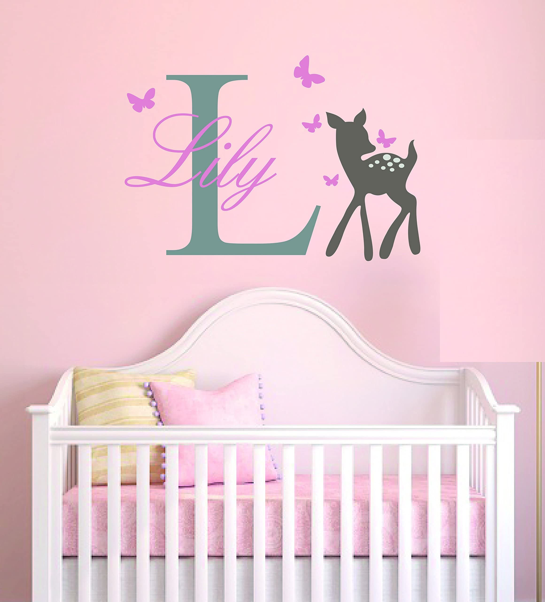 Baby Fawn Wall Decal 29.4 Wide x 26.6 Tall