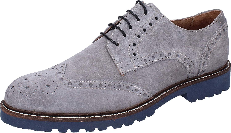 RUE 51 Elegante Schuhe Herren Wildleder grau