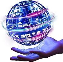 Gimama 飞行球 陀螺 飞行球 UFO 玩具 子弹 无人机玩具 带LED灯 赠送人气商品 (蓝色)