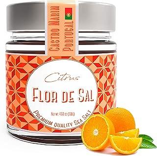 Fleur De Sel with citrus, Sea Salt from Portugal, Campo de Sal, 4.5 Oz