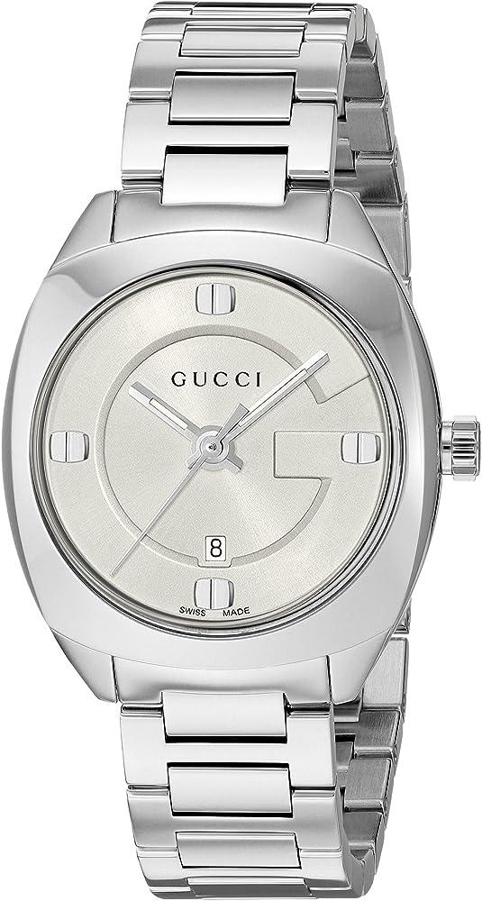 Gucci orologio unisex in argento YA142502