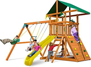 small swing and slide set