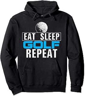 Vintage Eat Sleep Golf Repeat Funny Golfer/Golfing Love Gift Pullover Hoodie