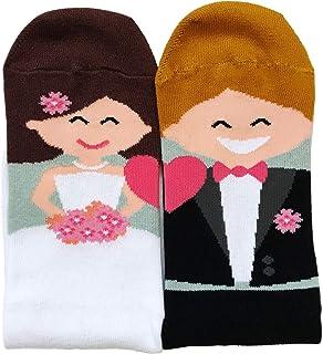 Madyes, Calcetines de boda divertidos para novio, accesorio para regalo de pies fríos, para hombre y mujer, decoración para calcetines de boda