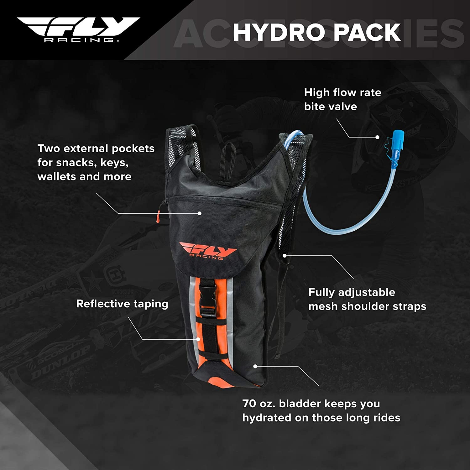 Fly Racing Hydropack Replacement Mouth Piece