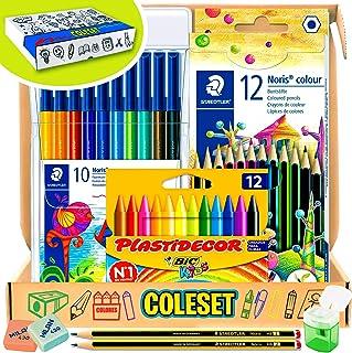 comprar comparacion Coleset Pack Material Escolar Primaria Set Vuelta al Cole Kit Escolar Infantil Lote Materiales Escolares Kawaii Material C...