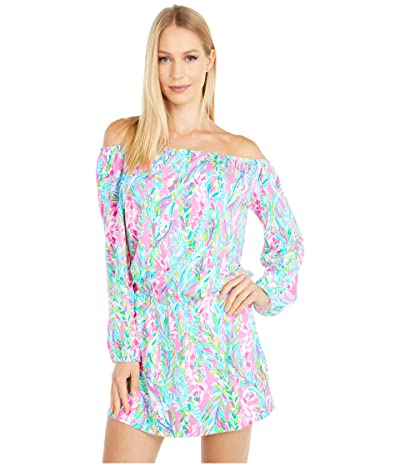 Lilly Pulitzer Lana Skort Romper (Multi Unicorn Of The Sea) Women