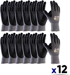 MaxiFlex Ultimate ATG 34-874 EXTRA LARGE / 34-874 Seamless Knit Nylon/Lycra Glove with Nitrile Coated icro-Foam Grip on Palm and Fingers (12 PACK)
