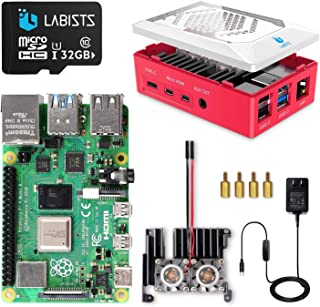 Raspberry Pi 4 8GB(技適マーク入)MicroSDHCカード32G/Raspbianシステムプリインストール/アルミニウム合金ヒートシンク(ファン付き)/改良されたケース/カードリーダ /5.1V/3A Type-C スイッチ付...