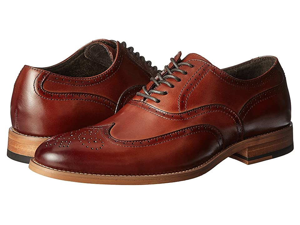 1920s Style Mens Shoes | Peaky Blinders Boots Stacy Adams Dunbar Cognac Mens Shoes $100.00 AT vintagedancer.com
