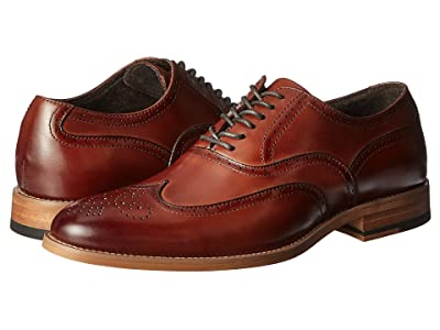 Stacy Adams Dunbar Wingtip Oxford (Cognac) Men