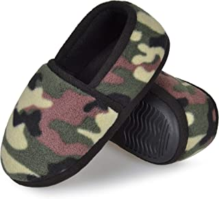 HOMEHOT Camo Boys Slippers for Kids House Shoes Cozy Memory Foam Slippers Indoor Outdoor Boys Slippers Toddler