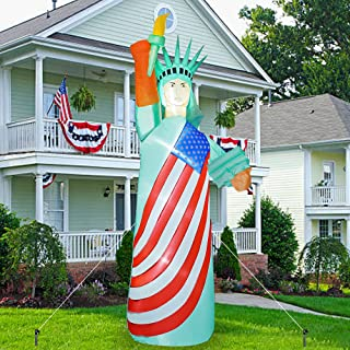 FUNPENY 9 FT Inflatable Decorations for Outside, Outdoors, Statue of Liberty with LED Lights, Blow Up Halloween Christmas ...