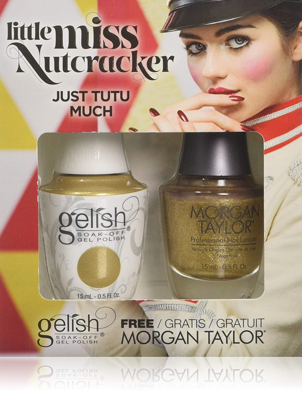 望みメキシコパッケージHarmony Gelish & Morgan Taylor - Two of a Kind - Just Tutu Much - 0.5oz / 15ml Each