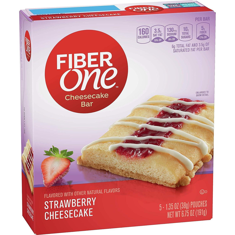 Fiber One Cheesecake Bar, Strawberry, 1.35 oz, 5 ct (Pack of 8)