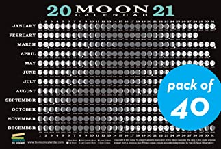 2021 Moon Calendar Card (40 pack): Lunar Phases, Eclipses, and More!