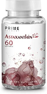 Prime Element Astaxanthin | 12mg Softgels | 60 Units (2 Months Supply) | Non-GMO & Gluten Free
