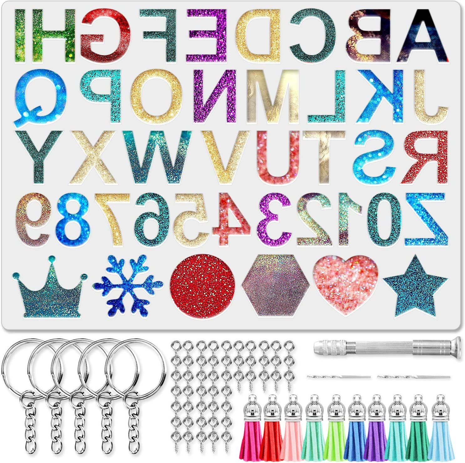 VEHHE Letter Resin Molds Backward - Silicone Alphabet Mold Don't miss the campaign shop