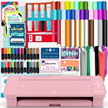 Silhouette Blush Pink Cameo 4 w/Blade Pack, 38 Oracal Sheets, HTV, Pens, Guides, More