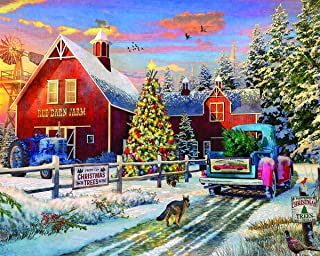 Springbok Puzzles - Red Barn Farms - 1000 Piece Jigsaw Puzzle - Large 30 Inches by 24 Inches Puzzle - Made in USA - Unique Cut Interlocking Pieces
