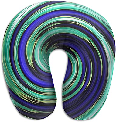 LIUYAN Ergonomic Design Memory Foam swirl-637868 U-Shaped Pillow Portable Head and Neck Support Airplane Sleeping Protect Travel Pillow Pillow for Outdoors Bus Train