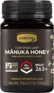 Comvita Certified UMF 10+ (MGO 263+) Raw Manuka Honey I New Zealand's #1 Manuka Brand I Authentic, Wild, Unpasteurized, No...