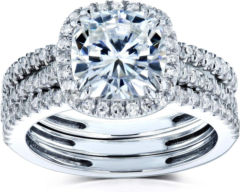 Kobelli Cushion Brilliant Moissanite Omaha Mall Halo Gifts S Wedding Rings Bridal
