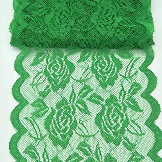 10Yards Lace Fabric 14CM/5.5 inches Wide Trim Lace Ribbon (Green)