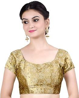 Chandrakala Women's Party Wear Bollywood Readymade Indian Style Saree Blouse Padded Brocade Choli (B113)