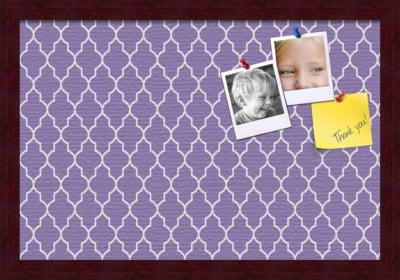ArtToFrames 18x12 Wholesale Custom Cork Tulsa Mall Bulletin Pu Board. Quatrefoil This