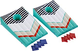 Wanderlust Complete Inflatable Bean Bag Toss Set, Blow-Up Cornhole Game, Best Pool and Lawn Target Sport, 2 Floating Targets, 8 Waterproof Bean Bags in 2 Colors, 2-Player Fun for Parties and Picnics