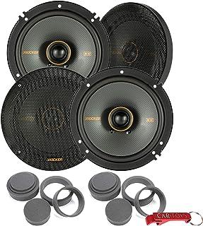 """$240 » Kicker 47KSC6504 KS Series 6.5"""" Car Speakers 4-Pack & Fast Rings Car Audio Bundle. 6.5 Inch Audio Coaxial Speakers, 100 W ..."""