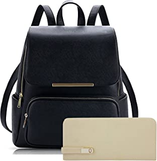 88e40f7a5 SALEBOX Metal Flap Leather Bagpack With Pouch & Wallet Ideal for Casuals &  Professionals Boys/