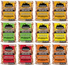 Smokehouse Products All Natural Flavored Wood Smoking Chunks, 12 Pack Assorted Flavors