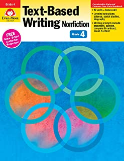 Evan-Moor Text-Based Writing: Common Core Mastery Book, Grade 4