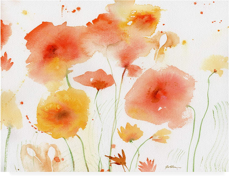 Trademark Fine Art orange Yellow by Sheila golde, 14x19 Multiple