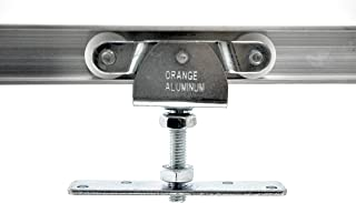 Orange Aluminum – Metal Ball Bearing Top Mount Kit - Heavy Duty Mount for Top Hung Interior Sliding Doors – for Single or Dual Door Tracks - Ideal for Closets, Cabinets, Wardrobes and Sliding Doors
