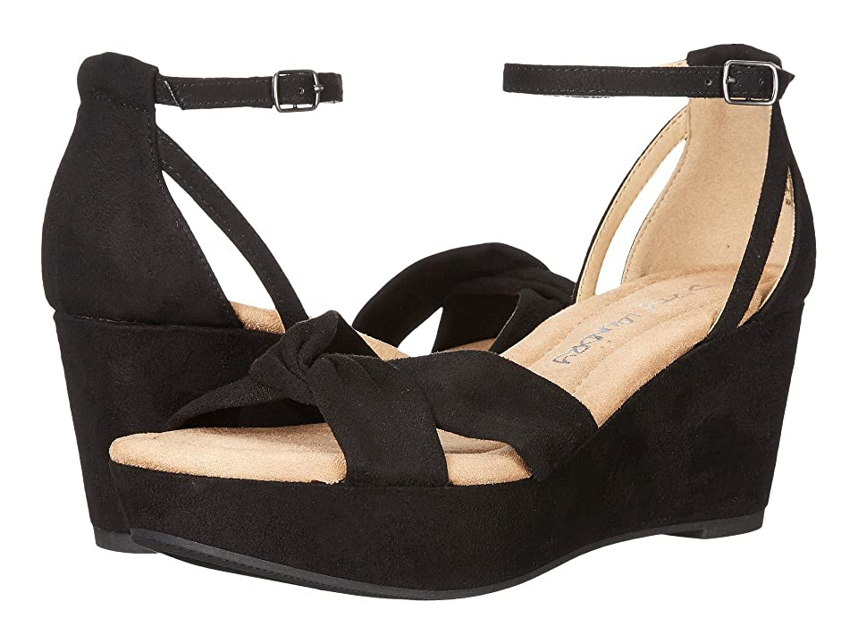 Dirty Laundry DL Dive In Wedge Sandal (Black) Women