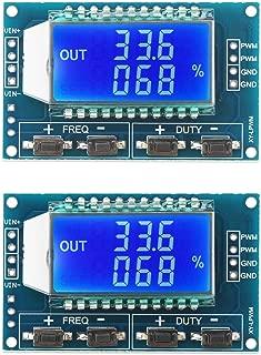 Pulse Generator, DROK 2pcs LCD Display PWM Frequency 1Hz-150kHz Duty Ratio 0-100 Percent Adjustable Square Wave Rectangular Wave Signal Generator Board