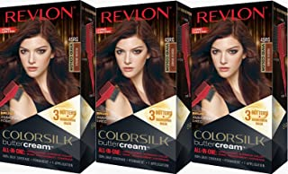 Revlon Colorsilk Buttercream Hair Dye, Vivid Reddish Bronze, Pack of 3