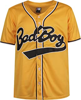 MOLPE Badboy #10 Biggie Baseball Jersey S-XXXL Yellow, 90S Hip Hop Clothing for Party, Stitched Letters and Numbers