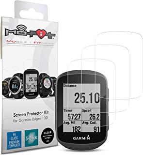 Screen Protector Kit for Garmin Edge 130 (Tempered Glass) 3-Pack