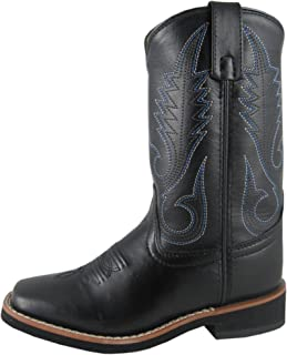 Smoky Mountain Boys' Western Boot Square Toe Black 6 D(M) US