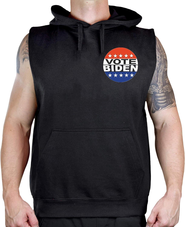 Men's Chest Vote Joe Biden Black Sleeveless Vest Hoodie
