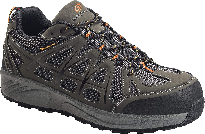 Nautilus Safety Footwear Men's N2502 Industrial Oxford, Grey, 7 Wide