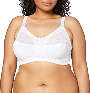 Ladies Non Wired Bra Womens Firm Control Lace By Marlon Size 36-44 B-F 580 NEW